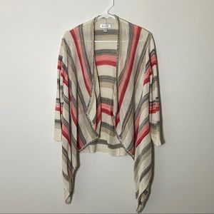 Waterfall Beige and Coral Cardigan